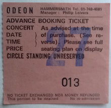 Load image into Gallery viewer, Alice Cooper Original Used Concert Ticket Hammersmith Odeon London 1982