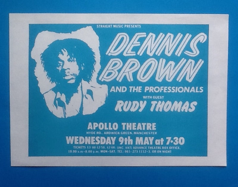 Dennis Brown Original Handbill Flyer Manchester 1979