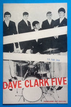 Load image into Gallery viewer, Dave Clark Five Programme Liverpool 1964