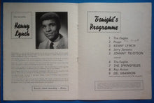 Load image into Gallery viewer, Del Shannon Johnny Tillotson Programme 1963
