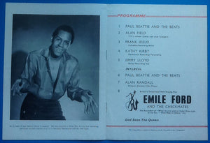 Emile Ford Frank Ifield Programme 1960