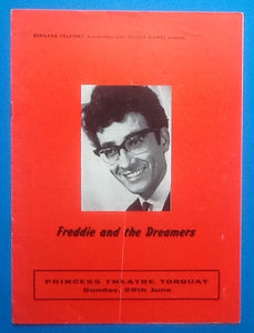 Freddie & the Dreamers Autographed Programme Torquay 1964