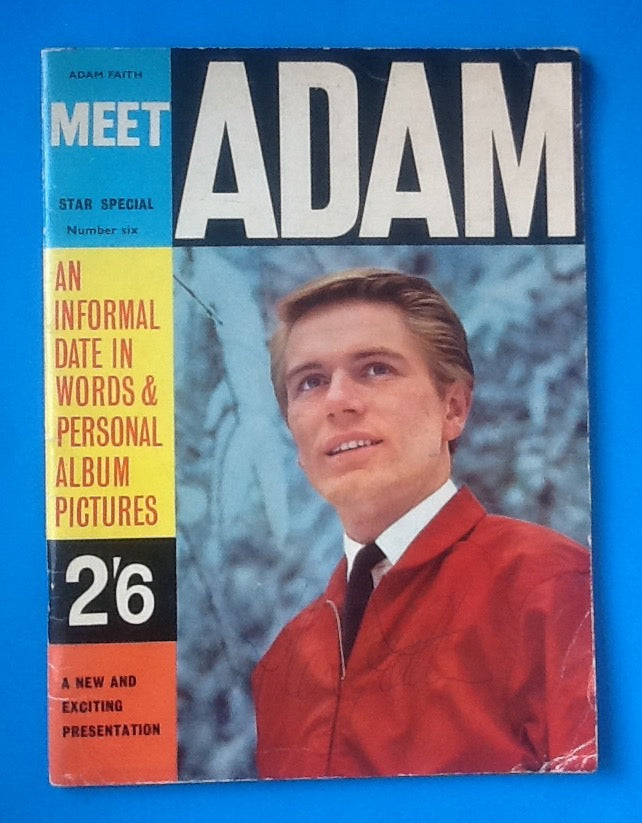 Adam Faith Autographed Magazine Meet Adam 1963