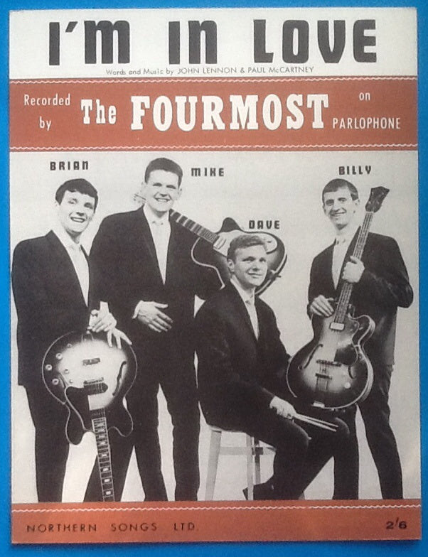 Fourmost I'm In Love Sheet Music 1963