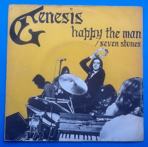 "Genesis Happy The Man Original 7"" 45 With Yellow P-S"