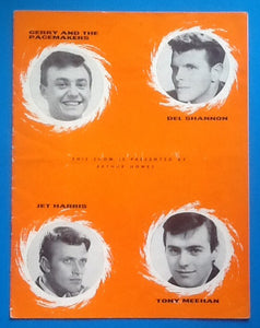 Gerry & the Pacemakers Del Shannon Tour Programme 1963