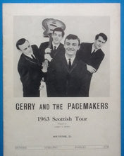 Load image into Gallery viewer, Gerry & the Pacemakers Programme Scotland 1963