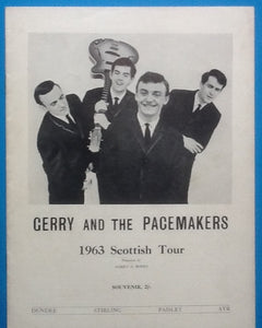 Gerry & the Pacemakers Programme Scotland 1963