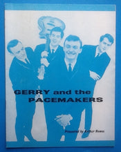 Load image into Gallery viewer, Gerry & the Pacemakers Billy J Kramer Programme Southend 1963