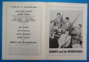 Johnny & the Hurricanes Programme UK Tour 1963