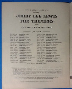 Jerry Lee Lewis UK Programme 1958