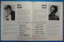 Load image into Gallery viewer, John Leyton Jet Harris Tony Meehan Programme UK Tour 1963