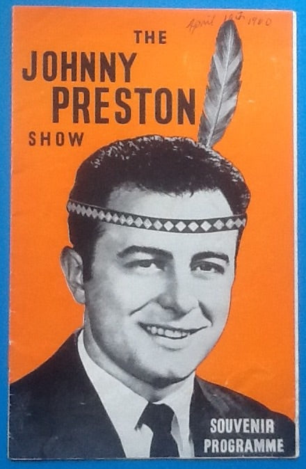 Johnny Preston Programme UK Tour 1960