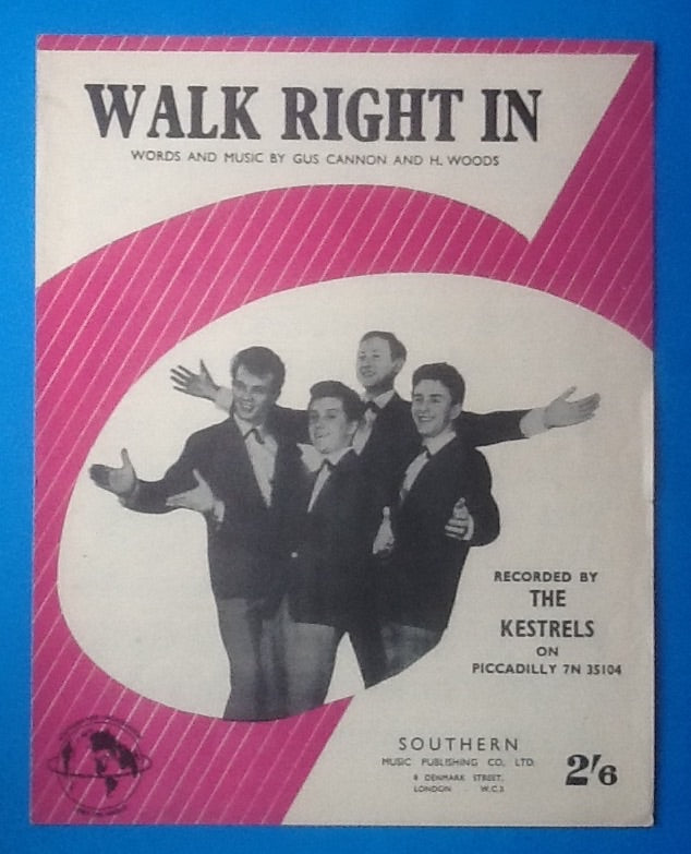 Kestrels Walk Right In Sheet Music 1963
