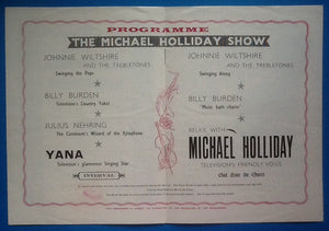 Michael Holliday Programme Southend 1959