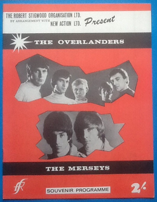 Overlanders Merseys Programme Great Yarmouth 1966