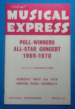Load image into Gallery viewer, Love Affair Cliff Richard NME Poll Winners Programme Wembley 1970