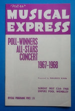Load image into Gallery viewer, Rolling Stones Amen Corner Love Affair NME Poll Winners Programme 1968