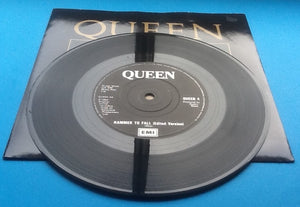 "Queen Hammer to Fall Original UK 7"" Withdrawn Sleeve 1984"