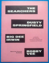 Load image into Gallery viewer, Searchers Dusty Springfield Bobby Vee UK Tour Programme 1964