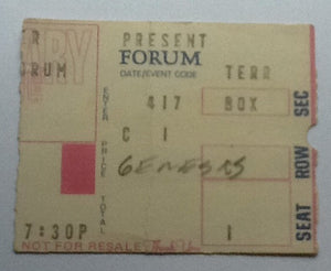 Genesis Concert Ticket Forum 1978