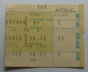 Yes Concert Ticket Forum 1973
