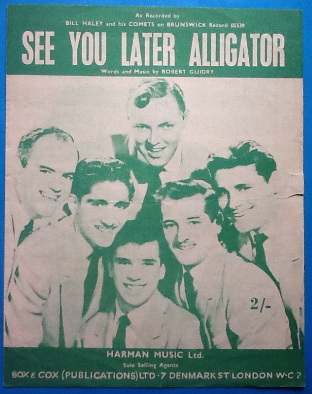 Bill Haley and his Comets See You Later Alligator Original Sheet Music 1956