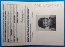 Load image into Gallery viewer, Bruce Springsteen Original Back Stage Pass Passport Wembley Stadium London 1985