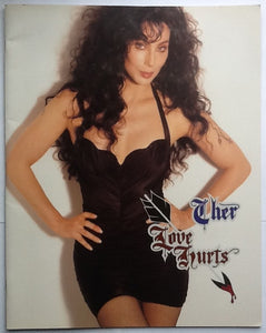 Cher Original Solo Concert Programme Love Hurts World Tour 1992