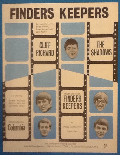 Cliff Richard Shadows Finders Keepers Original Mint Sheet Music 1966