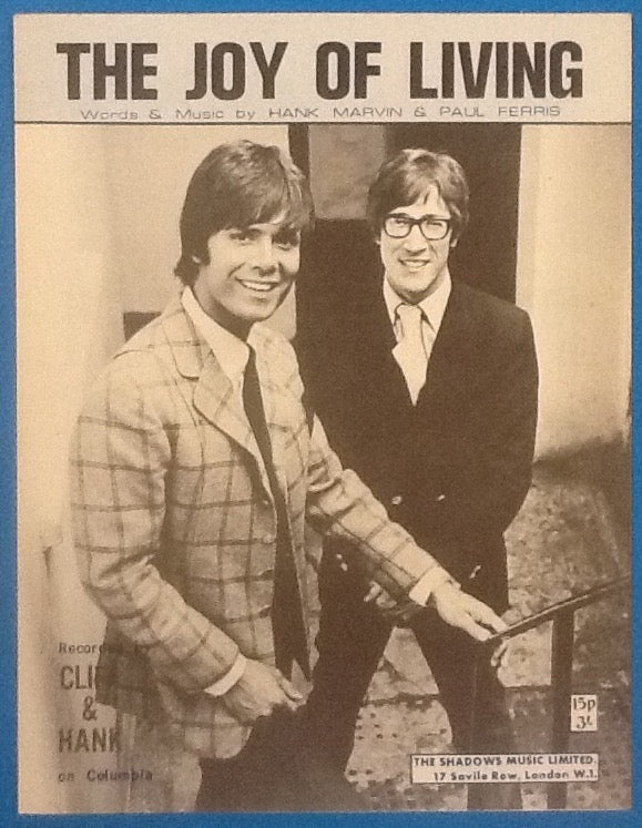 Cliff Richard and Hank Marvin The Joy Of Living Original Mint Sheet Music 1970