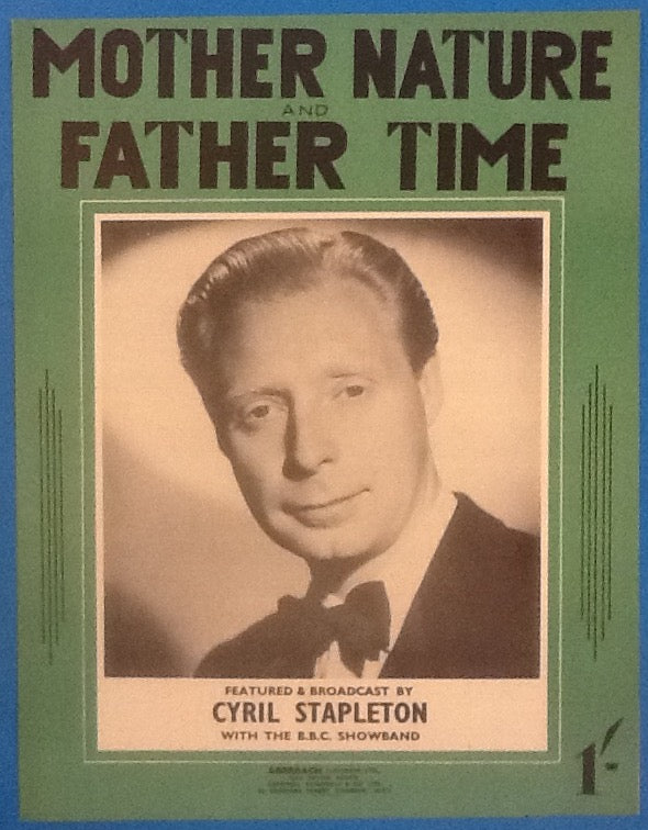 Cyril Stapleton Mother Nature And Father Time Original Mint Sheet  Music 1952