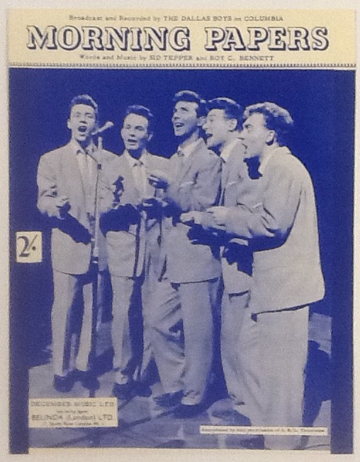 Dallas Boys Morning Papers Original Mint Shhet Music 1959