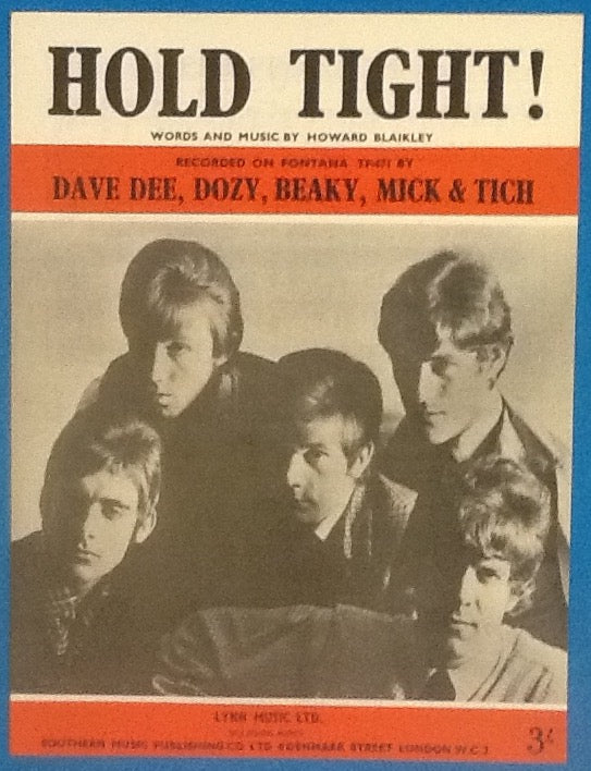 Dave Dee Dozy Beaky Mick & Tich Hold Tight! Original Mint Sheet Music 1966