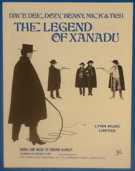 Dave Dee Dozy Beaky Mick & Tich The Legend of Xanadu Original Mint Sheet Music 1968