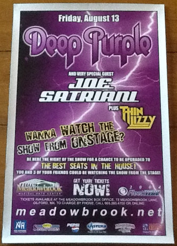 Deep Purple Thin Lizzy Original Concert Tour Gig Poster Meadowbrook Arts Center Gilford 2004