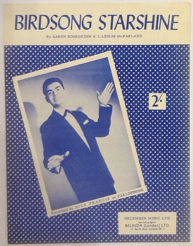 Dick Francis Birdsong Starshine Original Mint Sheet Music 1959