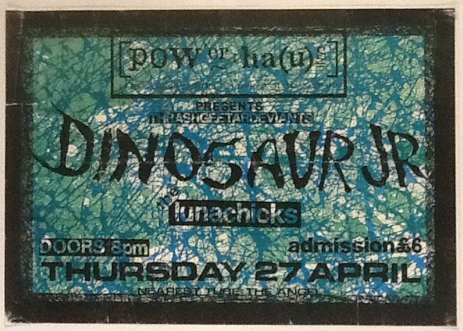 Dinosaur Jr Rare Original Concert Tour Poster Powerhaus London 1989