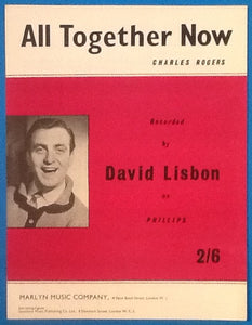 David Lisbon All Together Now Original Mint Sheet Music 1962