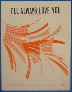Del Shannon I'll Always Love You Original Mint Sheet Music 1963