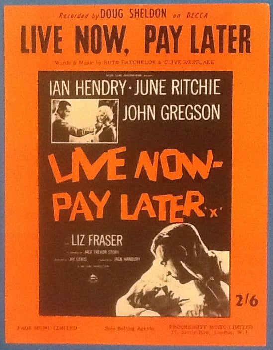 Doug Sheldon Live Now, Pay Later Original Mint Sheet Music 1962