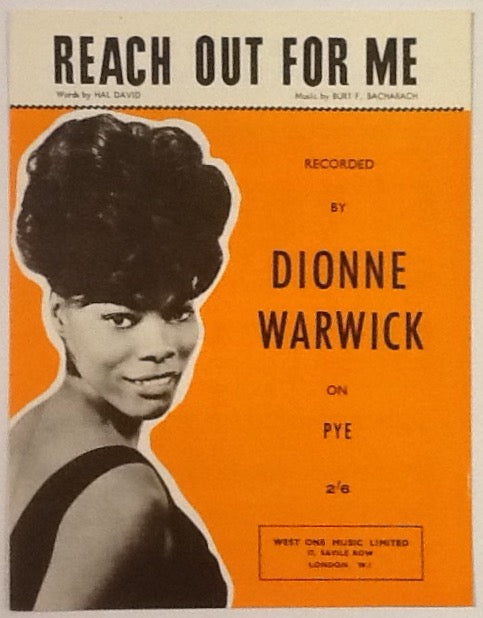 Dionne Warwick Reach Out For Me Original Mint Sheet Music 1963