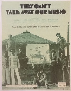Eric Burdon and War They Can't Take Away Our Music Original Mint Sheet Music 1970