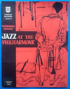 "Ella Fitzgerald Concert Programme Norman Grant ""Jazz at the Philharmonic"" UK Tour 1962"