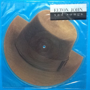 "Elton John Sad Songs 2 Track NMint 7"" Shaped Picture Disc UK 1984"
