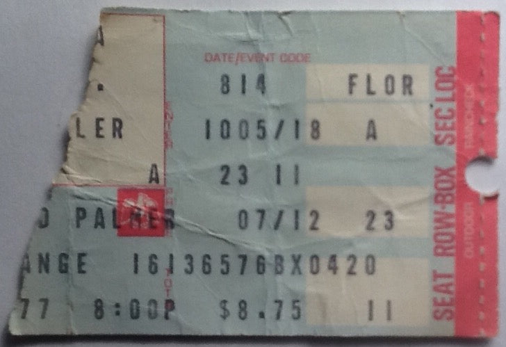 Emerson Lake & Palmer Original Used Concert Ticket Long Beach Arena 1977