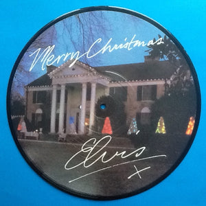 "Elvis Presley Mery Christmas 10"" Picture Disc 1983"