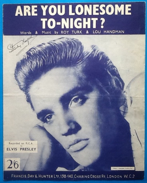 Elvis Presley Are You Lonesome Tonight? Original Sheet Music