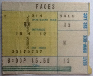 Faces Original Used Concert Ticket Long Beach Arena 1973