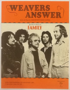 Family Weavers Answer Original Mint Sheet Music 1969